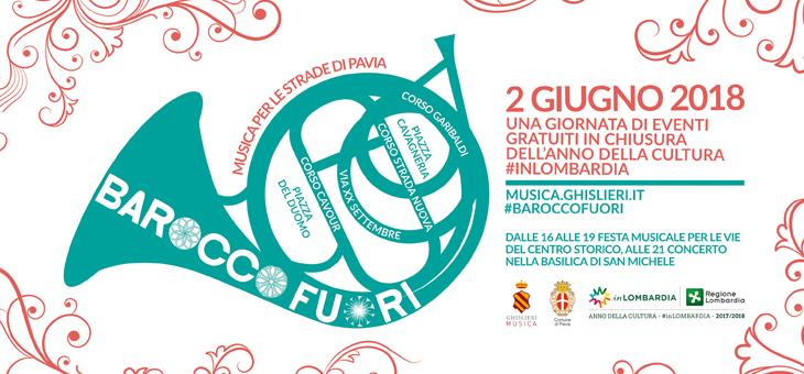 #BaroccoFuori: sabato 2 giugno a Pavia